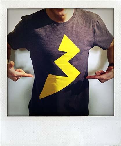 Blitz T-Shirt dunkelgrau