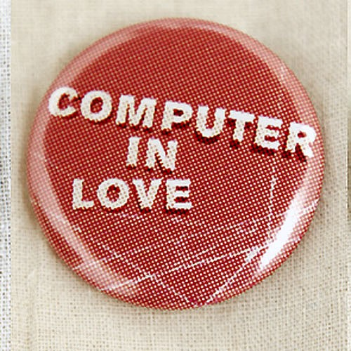 Computer in Love Button