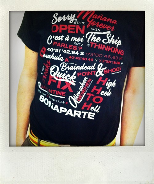 Songtitles T-Shirt schwarz