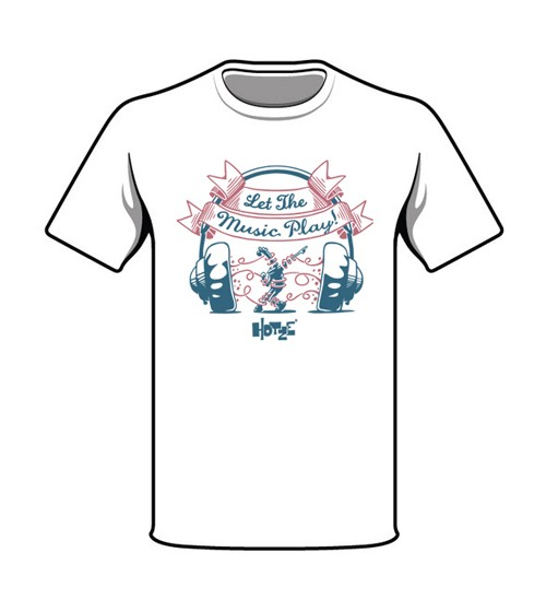 Let The Music Play! T-Shirt weiß