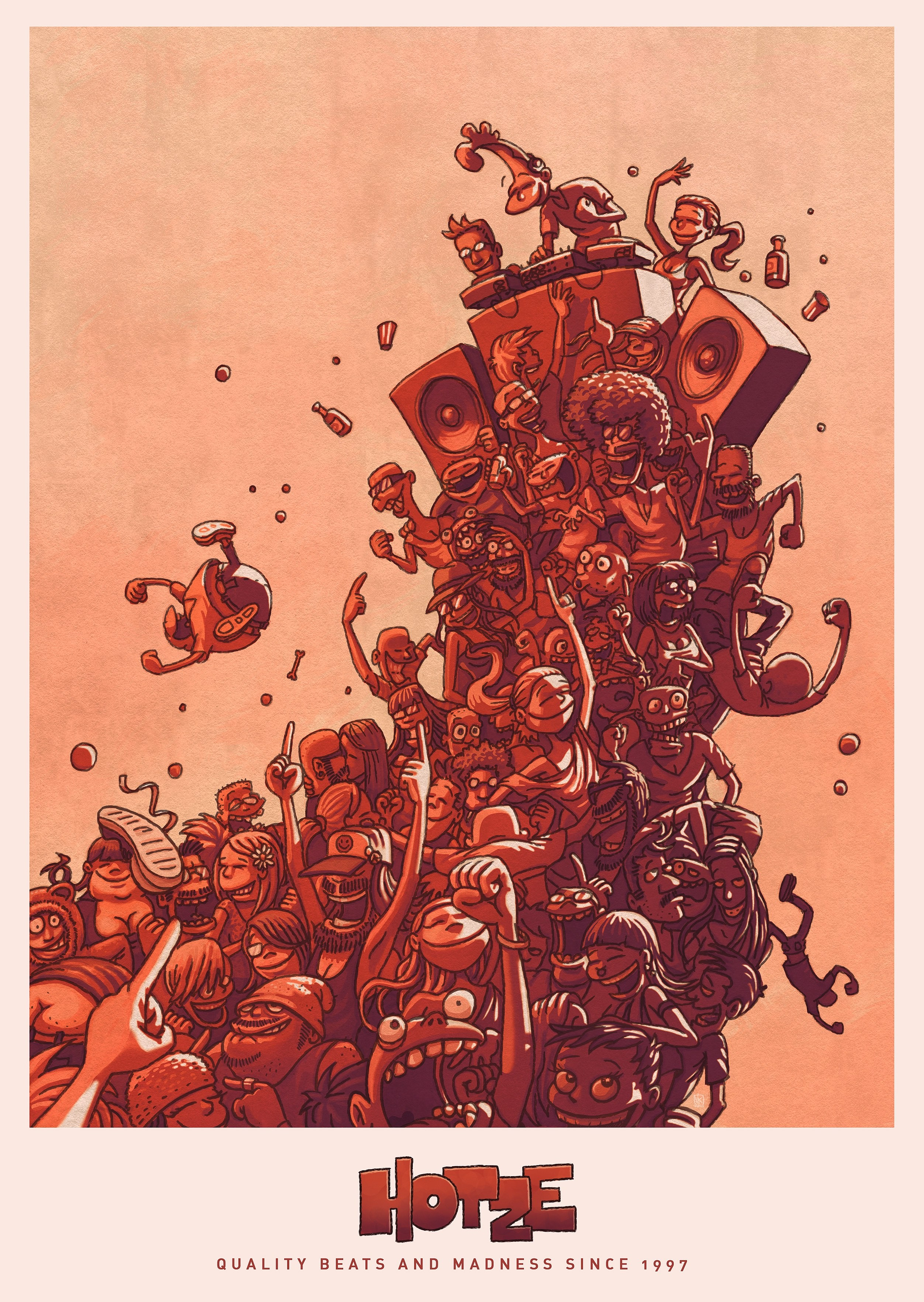 Quality Beats & Madness Poster Poster 42cm x 59,4cm
