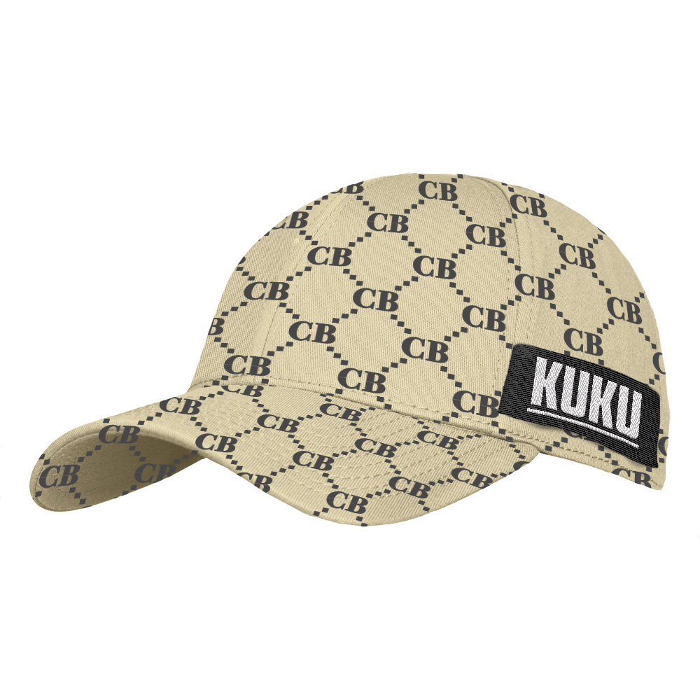 Pattern Cap One Size Fits All beige - schwarz