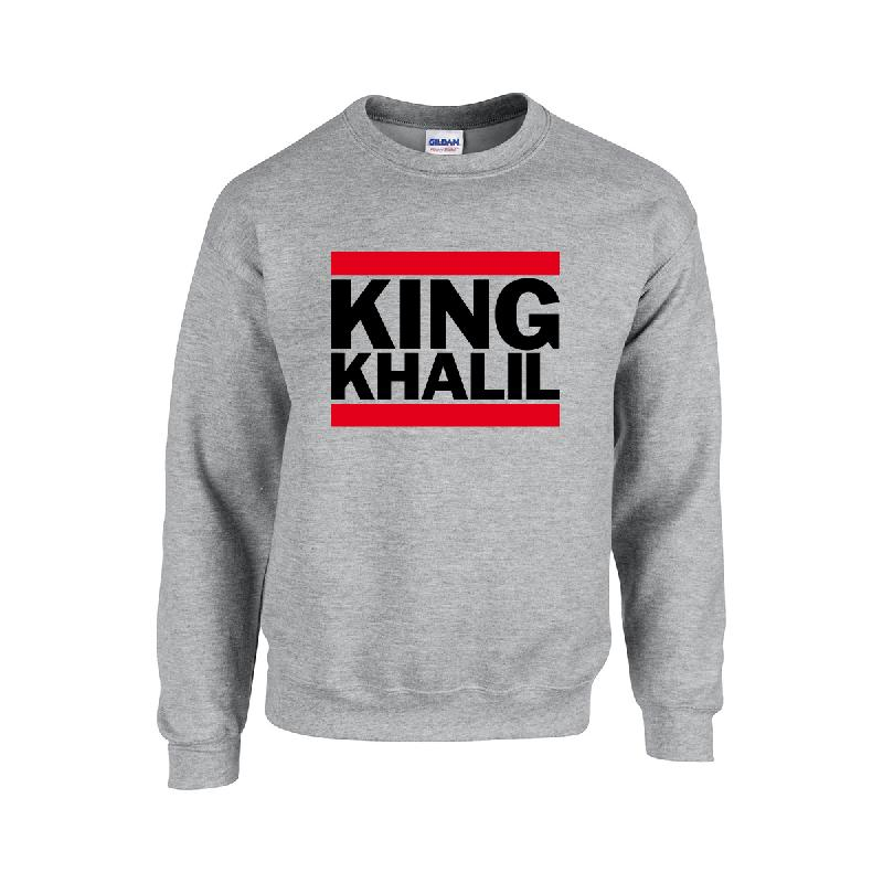King Khalil Run DMC Sweater Sweater Grau