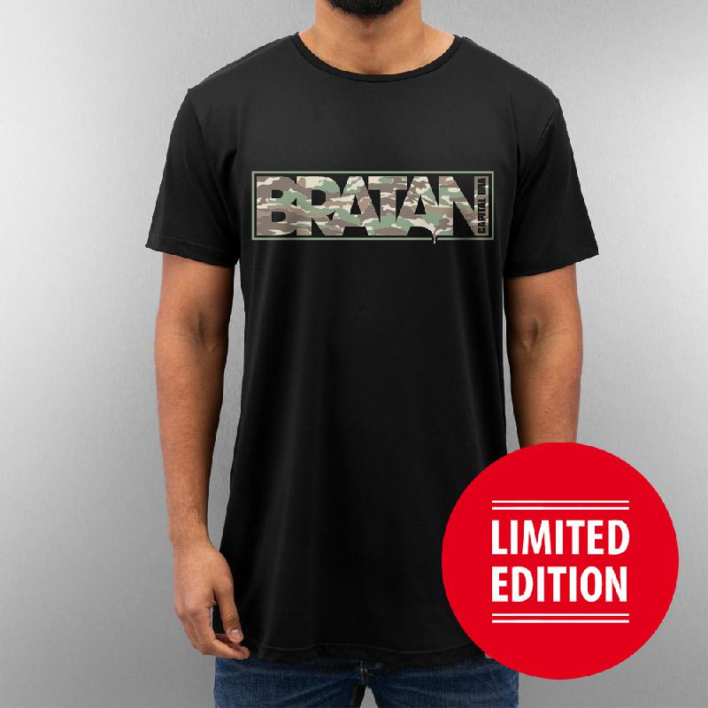 Bratan T-Shirt (Long Shape) schwarz