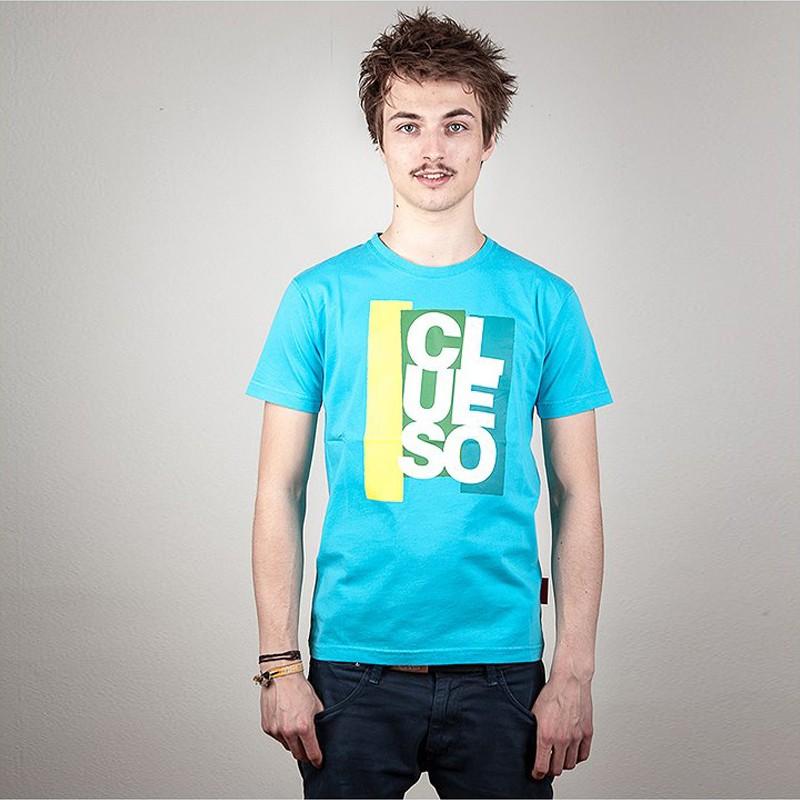 Block T-Shirt blau
