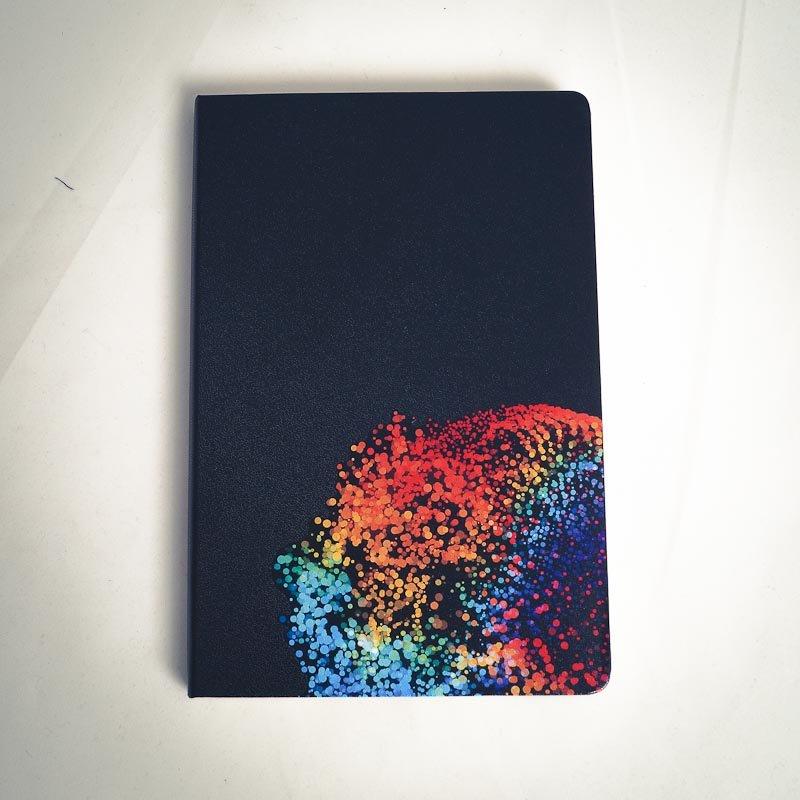 Notizbuch Stadtrandlichter A5 Buch schwarz