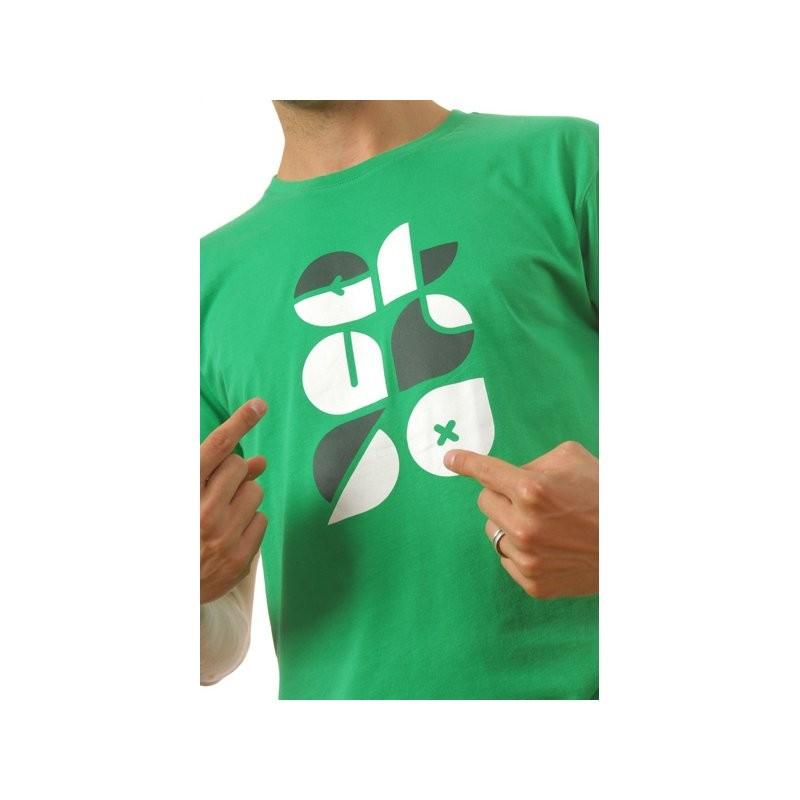 Typo T-Shirt grün