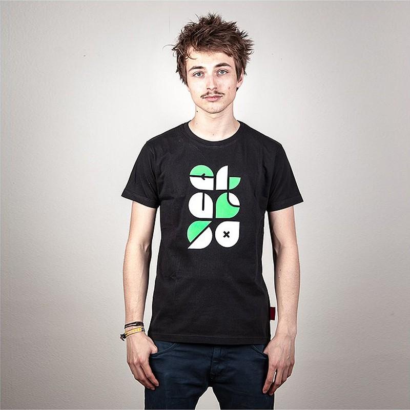 Typo T-Shirt schwarz