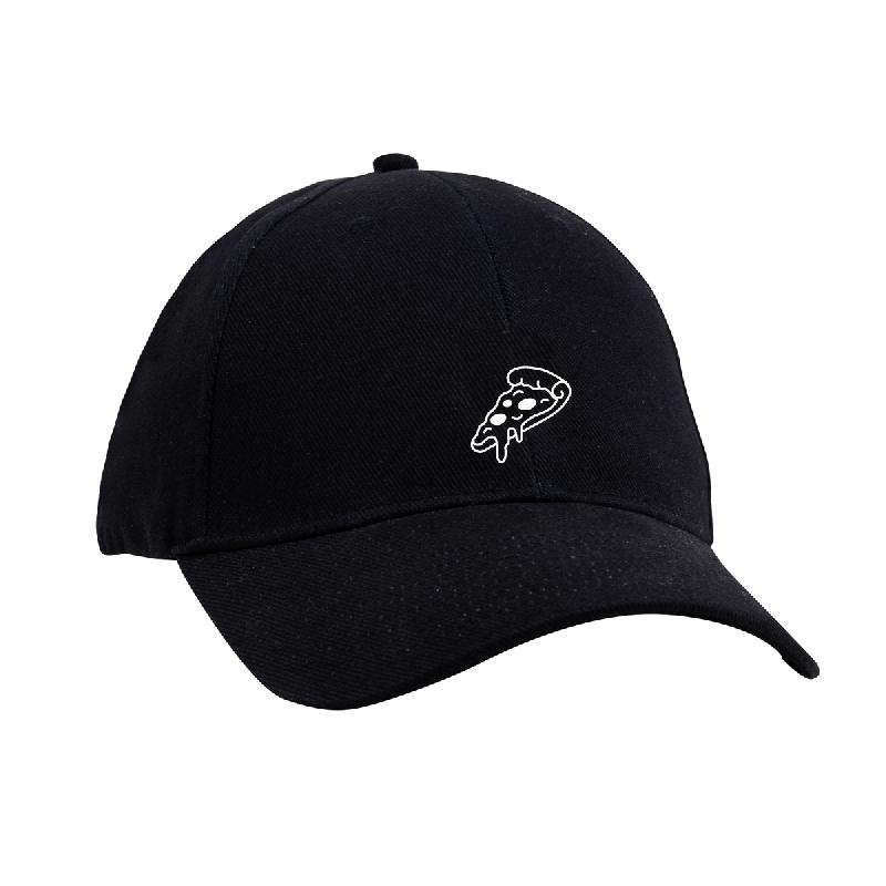 CRISPY CRUST DAD HAT - PIZZA Cap One Size Fits All black