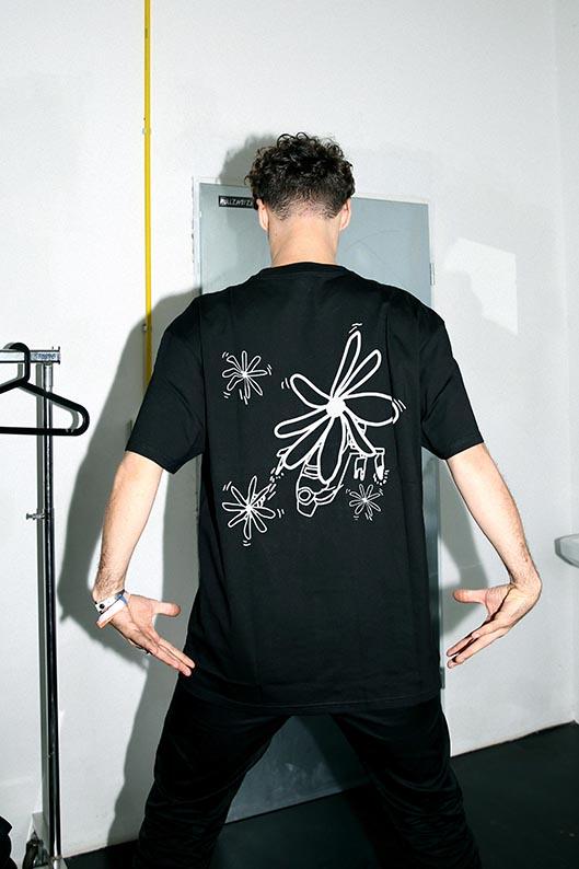 Felly Flowercopter T-Shirt schwarz