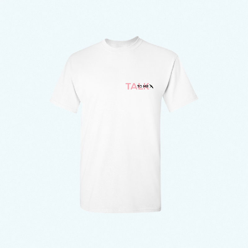 TALK TO ME TEE T-Shirt White