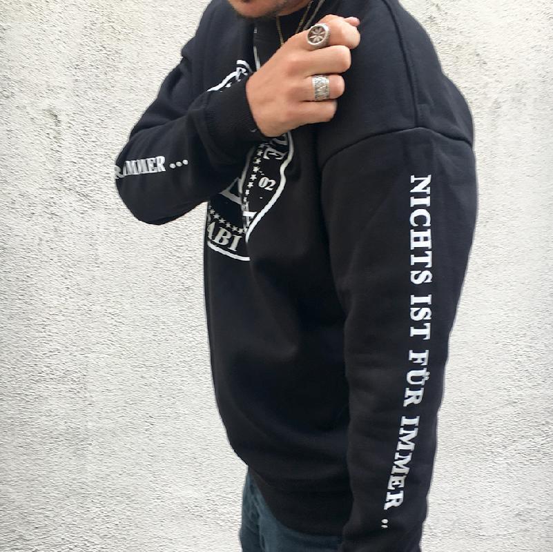 Hip Sweater Kreislogo Sweater Schwarz