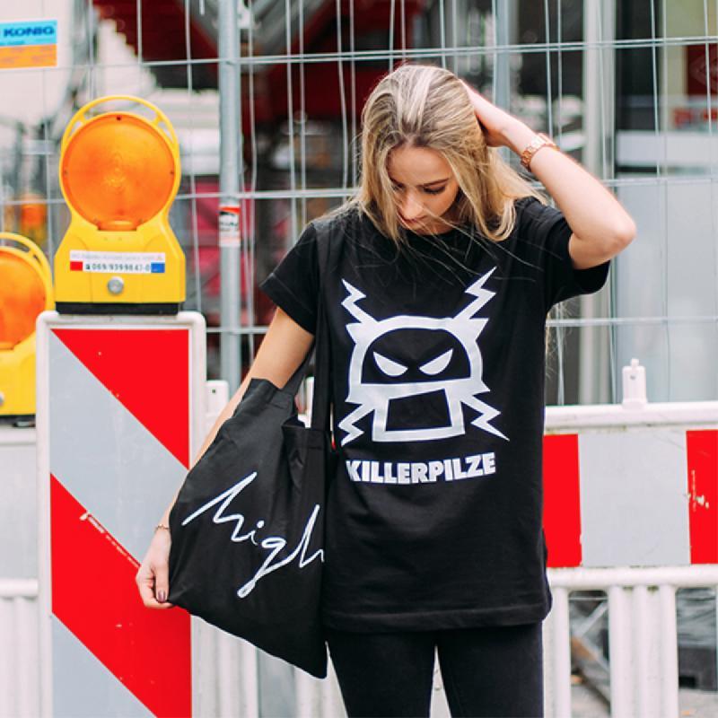 Pilz T-Shirt T-Shirt Schwarz