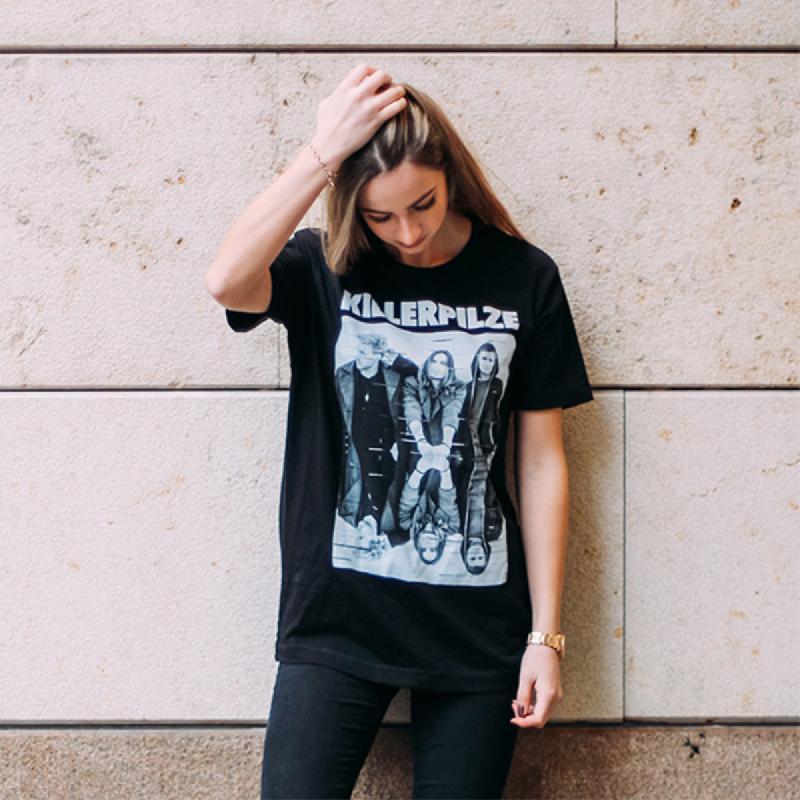 Spiegel T-Shirt T-Shirt Schwarz