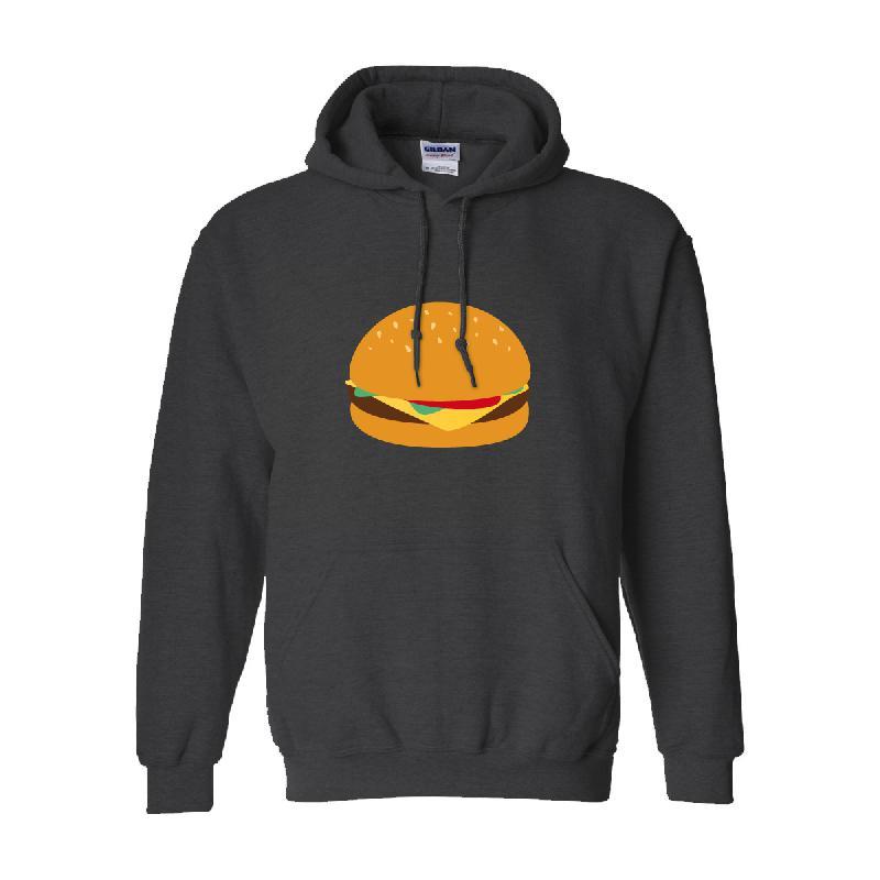 Burger Hoodie Grau