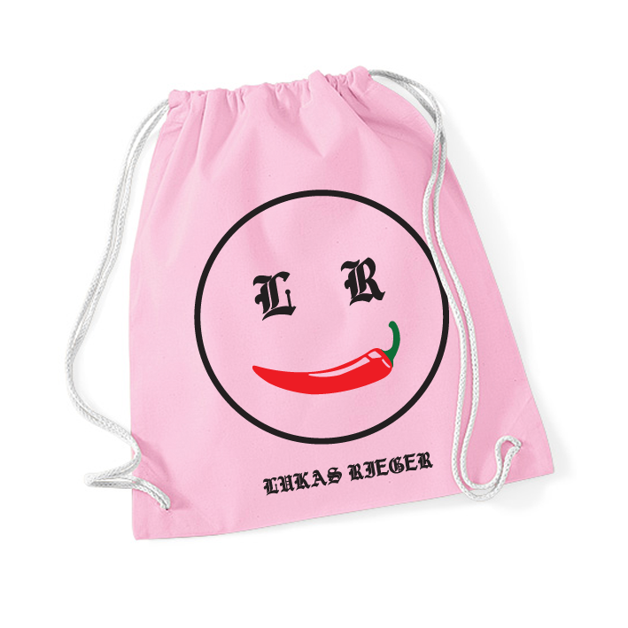 Chili Smiley Gymbag pink