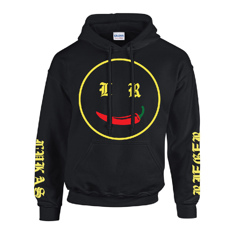 Chili Smiley Hoodie black