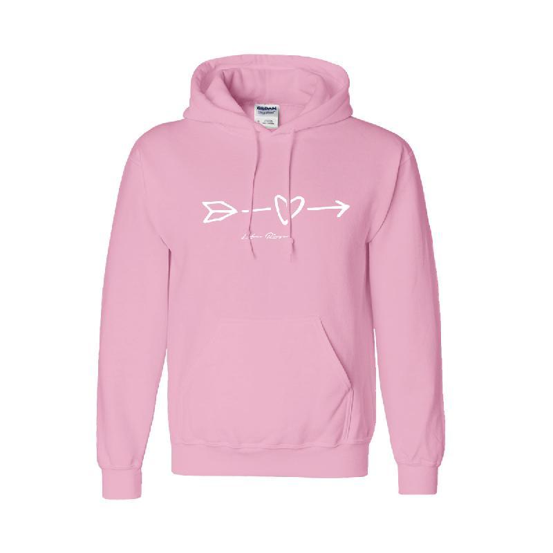 Heart Hoodie Hoodie Pink