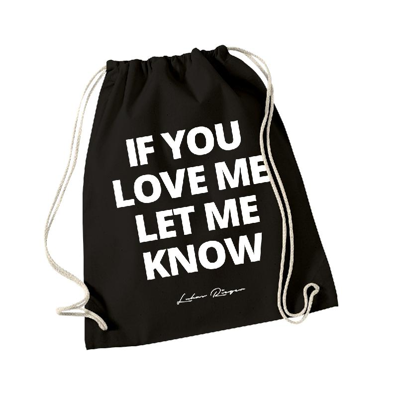 If You Love Me Gymbag Schwarz