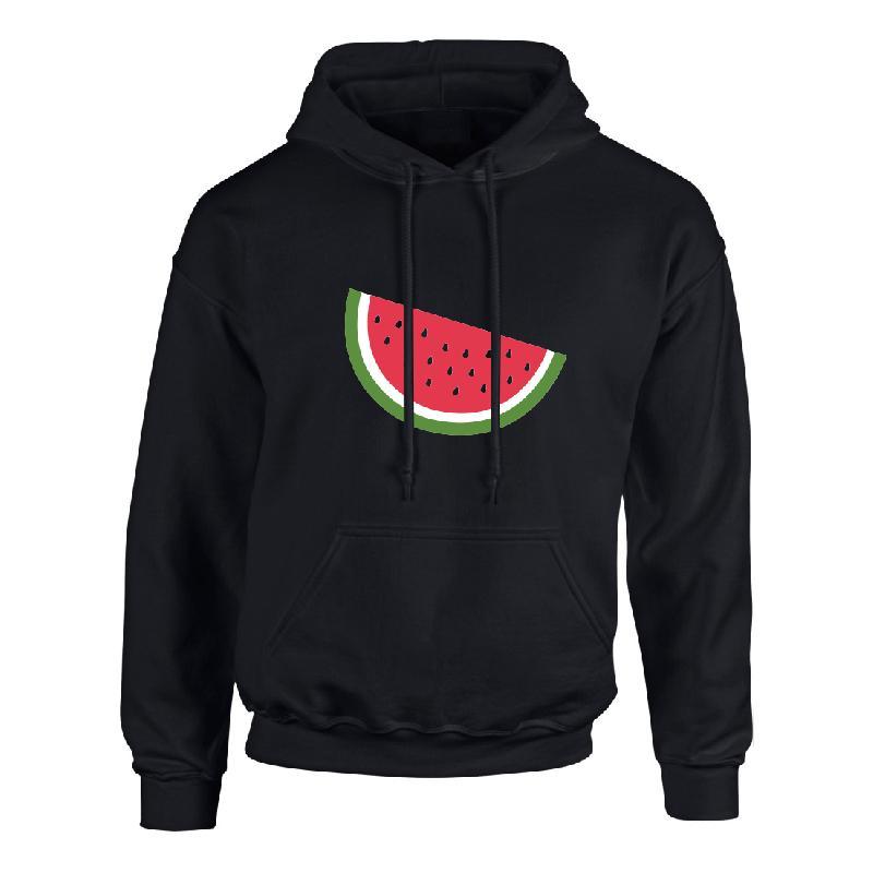 Melone neon Hoodie schwarz