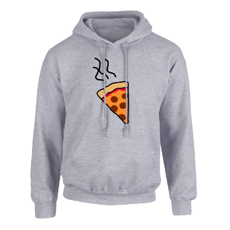 Pizza Hoodie grau