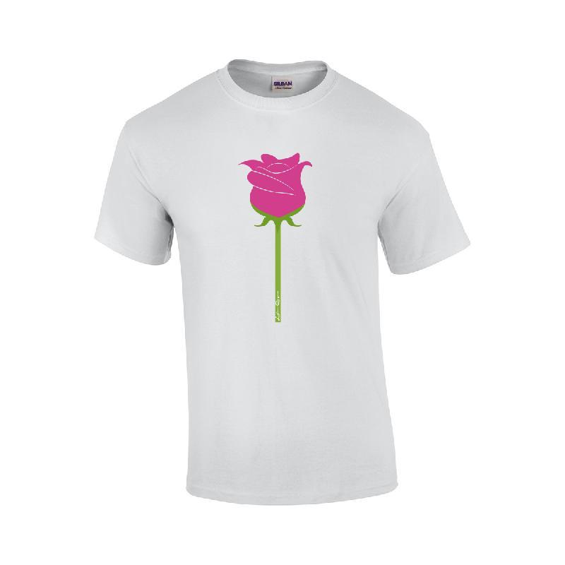 Rose T-Shirt T-Shirt Weiss