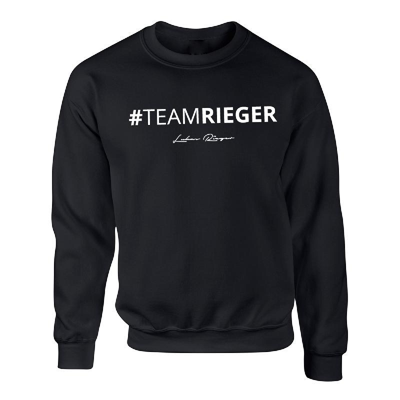 #Teamrieger Sweater Schwarz