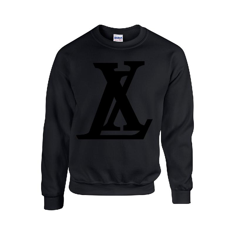 Logo Sweater Black on Black Sweater Schwarz