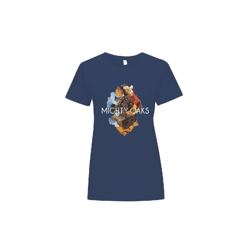 Girl T-Shirt Dreamers Girlie Navy Blau