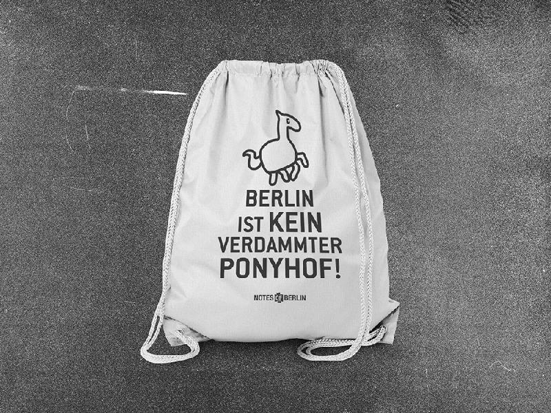 Ponyhof Gymbag white