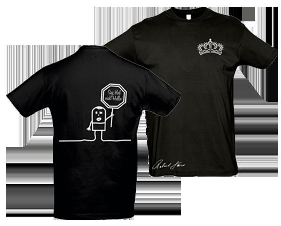 Hello T-Shirt schwarz
