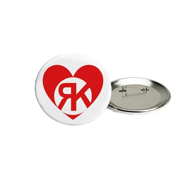 Herz Button rot