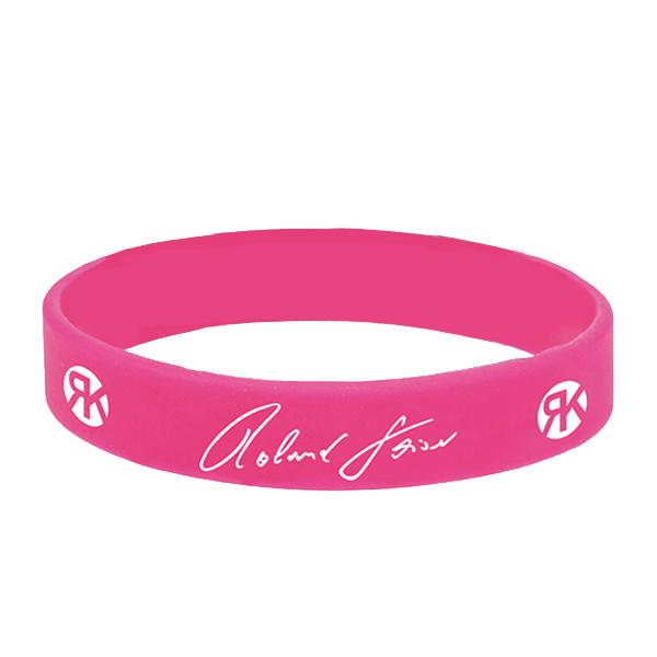 Logo Silikonarmband pink