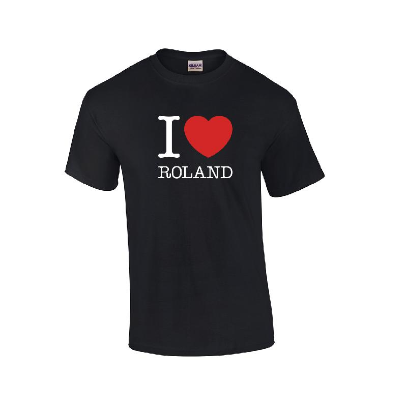 Love Roland T-Shirt Damen Girlie Schwarz