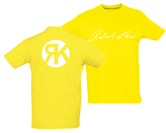 Signatur T-Shirt Gelb
