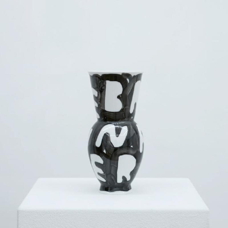Broken Flowers - porcelain vase Vase