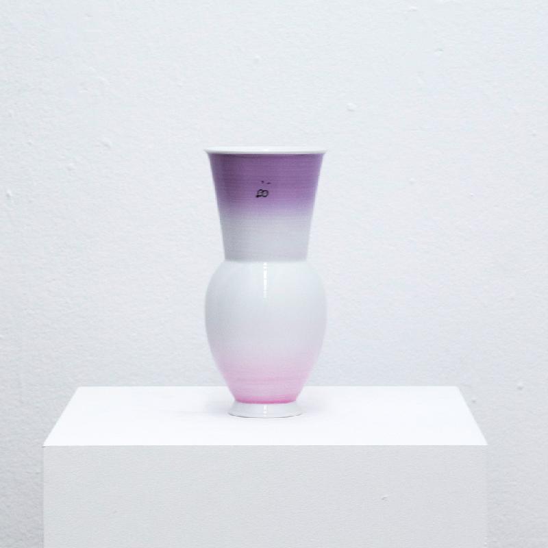 Gradient Vase (Purple to Rose) - porcelain vase Vase