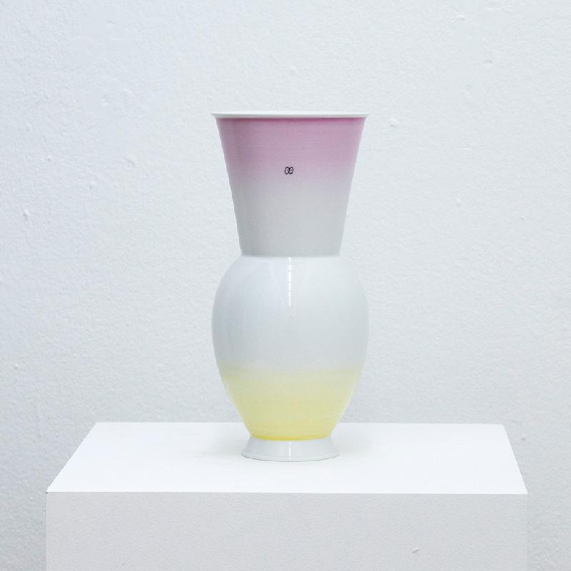 Gradient Vase (Rose to Yellow) - porcelain vase Vase