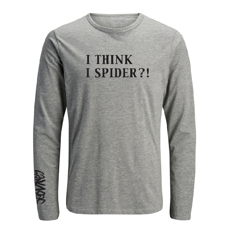 I Think I Spider Longsleeve grau