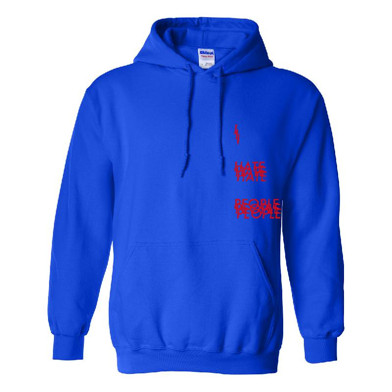 I Hate People Hoodie Hoodie Blue