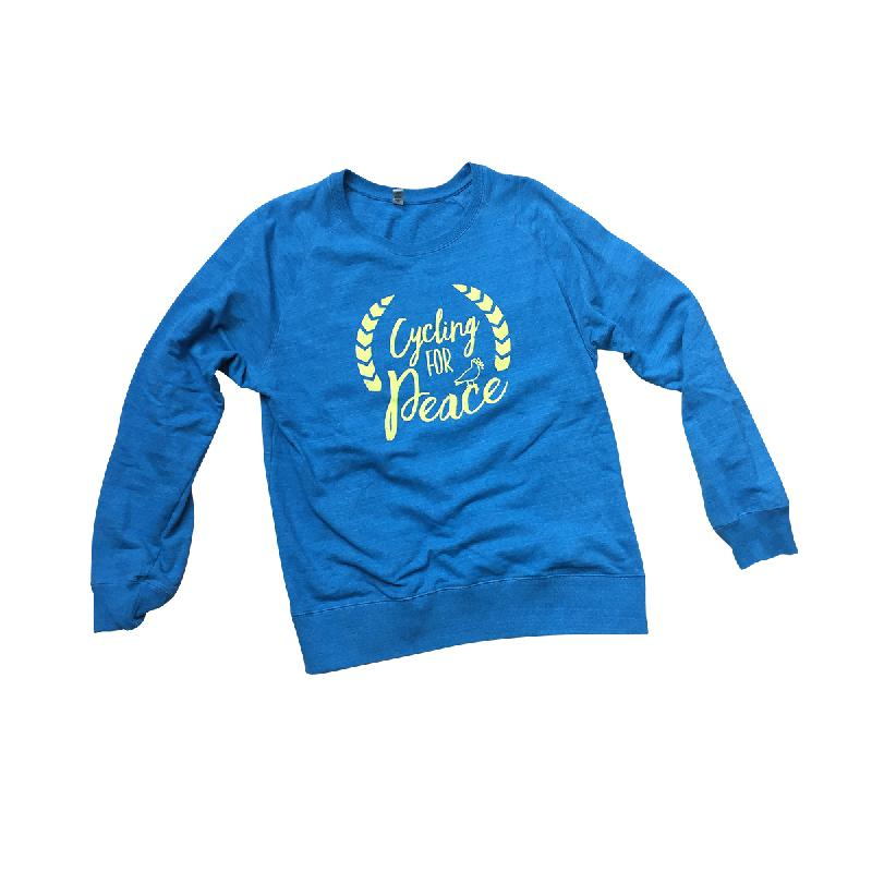 Cycling For Peace Sweater Sweater Blue