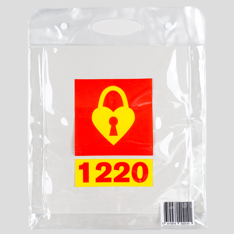 1220 Plastic Bag Heart Tasche