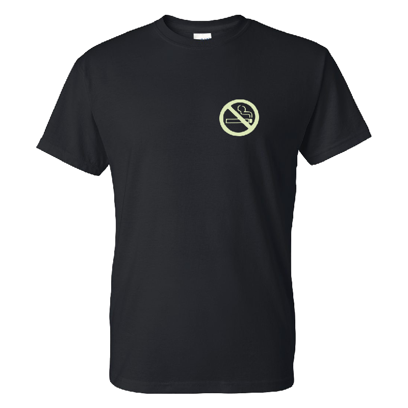 No Smoking T-Shirt Schwarz