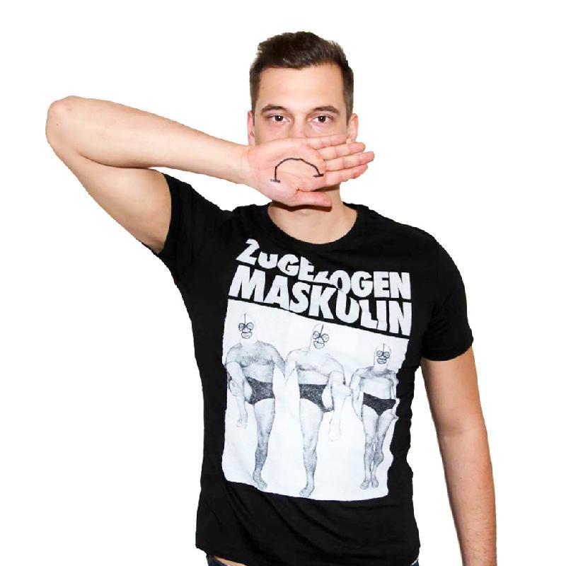 Wrestler T-Shirt Schwarz